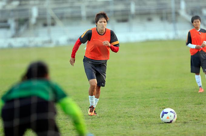 Đội tuyển nữ tập luyện chuẩn bị cho trận chung kết