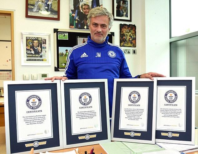 Mourinho được trao bốn chứng nhận Kỷ lục thế giới
