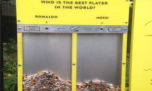 Tên tuổi Ronaldo và Messi được sử dụng để thu dọn rác