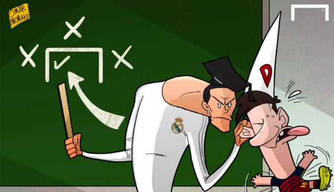 Ronaldo véo tai, dạy Messi cách ghi bàn