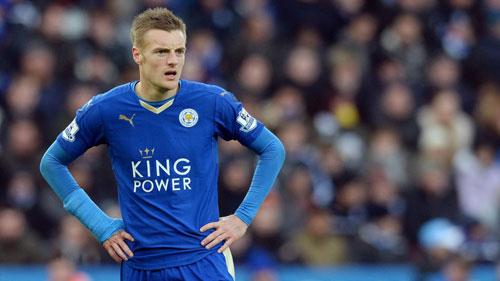 Vardy vắng mặt sẽ ảnh hưởng lớn tới lối chơi của Leicester. Ảnh: Reuters.