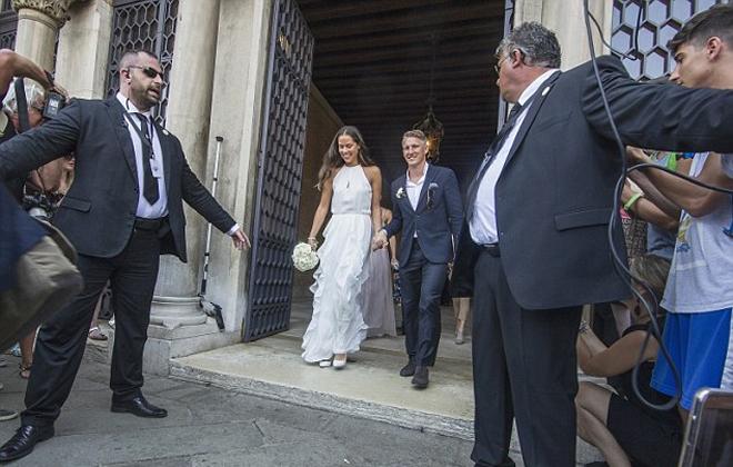 Lễ cưới lãng mạn của Schweinsteiger và Ivanovic