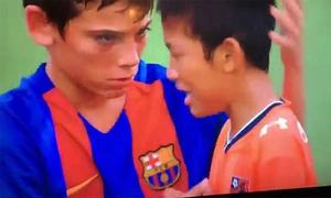 Cầu thủ nhí Barca được khen ngợi vì tinh thần fair play