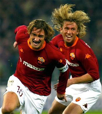 Totti coi Cassano là đồng đội tốt nhất tại Roma