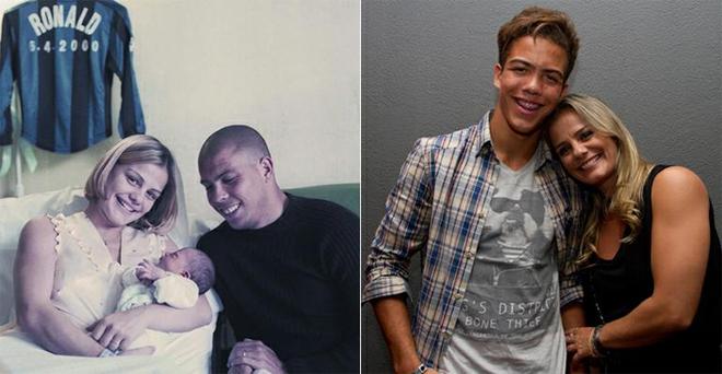 Con trai càng lớn càng giống Ronaldo