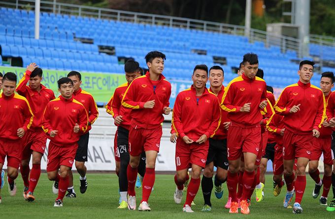 U20 Việt Nam tập kín khi đến địa điểm thi đấu World Cup