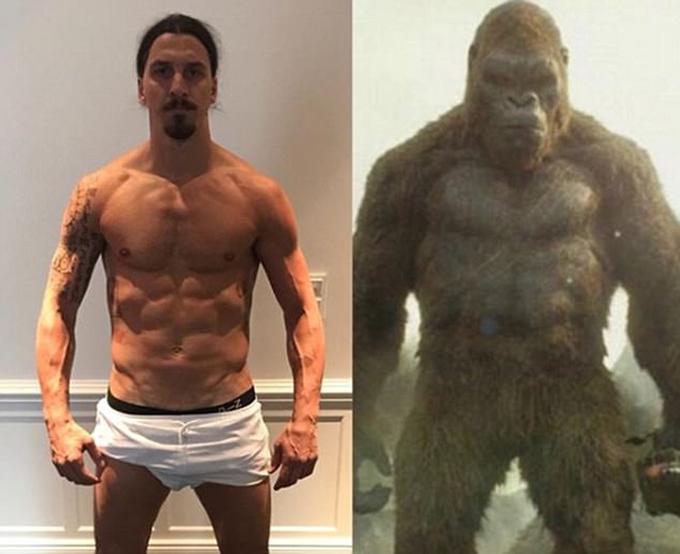 Ibrahimovic ví bản thân với quái vật Kong