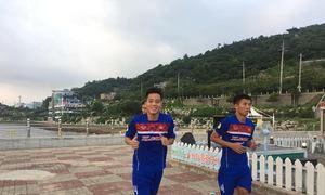 U22 Việt Nam tập luyện tại Hàn Quốc
