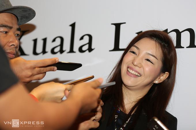 Nữ trưởng đoàn Thái Lan thu hút giới truyền thông SEA Games
