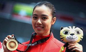 Mỹ nữ Indonesia đoạt HC vàng bốn kỳ SEA Games liên tiếp