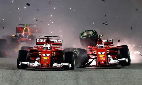 Ferrari sớm gặp nạn, Hamilton về nhất tại Singapore