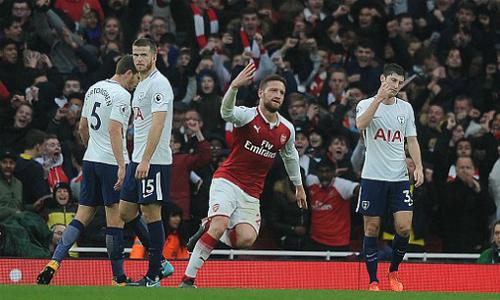 Arsenal 2-0 Tottenham (hiệp hai)