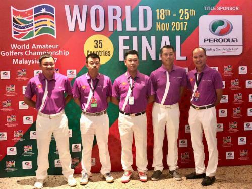 5 golf thủ đại diện tuyển Việt Nam.