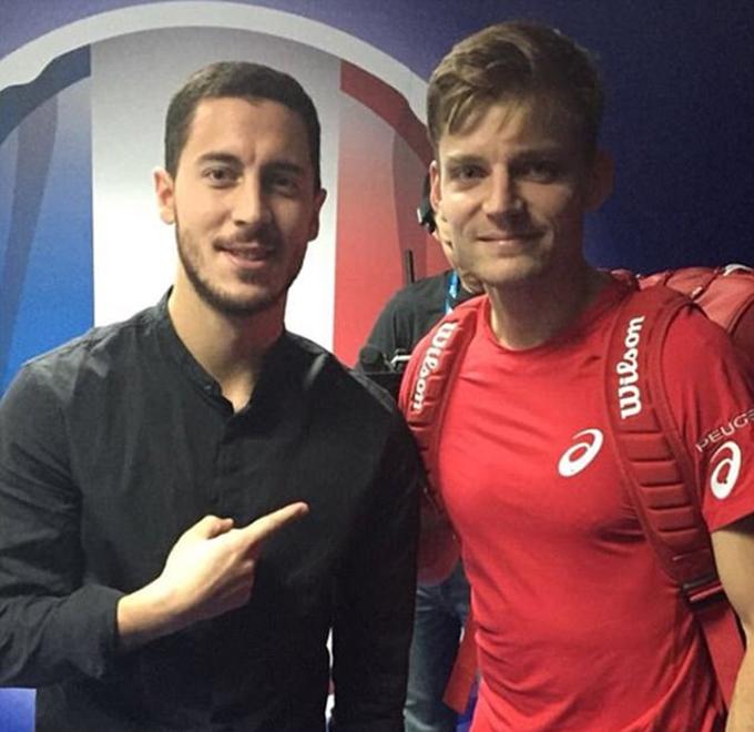 Hazard chuốc thêm sầu khi cổ vũ tuyển Bỉ ở Davis Cup