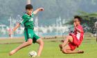 Trận đấu bằng chân trần giữa Học viện TP HCM và U13 Kawasaki Frontale