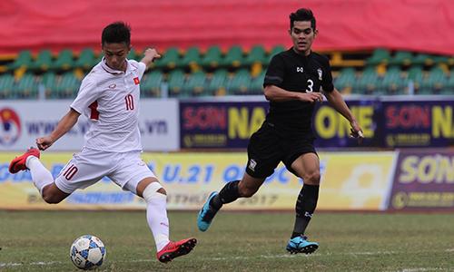 Cầm chân Thái Lan 3-3, U21 Việt Nam giáp tiếp giúp U21 Việt Nam sớm đoạt vé vào chung kết. Ảnh: Quang Liêm.