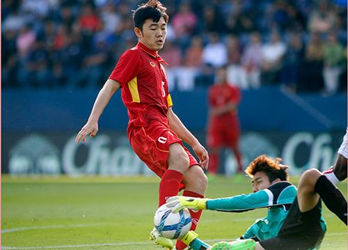 Xuân Trường đang tìm lại phong độ đỉnh cao ở đội U23 Việt Nam sau một năm ngồi dự bị ở Gangwon FC. Ảnh: Anh Khoa.