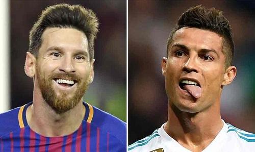 Đôi chân Messi chỉ có giá bằng nửa Ronaldo. Ảnh: EFE.