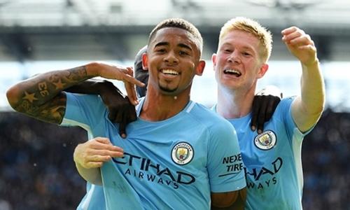 Gabriel Jesus sẽ hưởng lương thứ ba tại Man City nếu ký hợp đồng mới. Ảnh: PA.