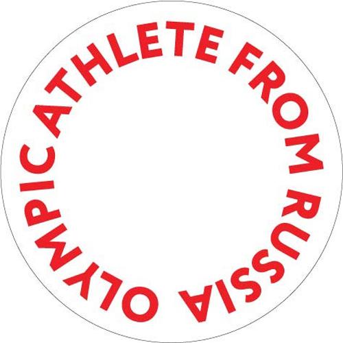 Các VĐV phải dùng biểu tượng này trên trang phục thay vì biểu tượng của đoàn thể thao Nga ở các kỳ Olympictrước. Ảnh: IOC.
