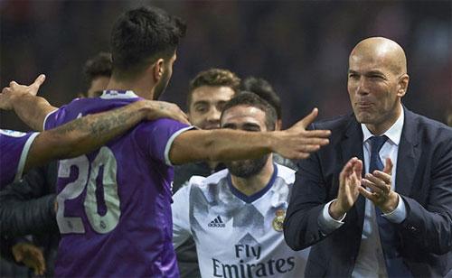 Zidane đang rất thành công trong việc khắc chế Barca và giúp Real chiến thắng. Ảnh: Reuters