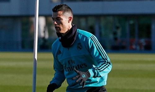 Ronaldo chưa tập chung buổi nào cùng đồng đội trong tuần này. Ảnh: Real Madrid FC.