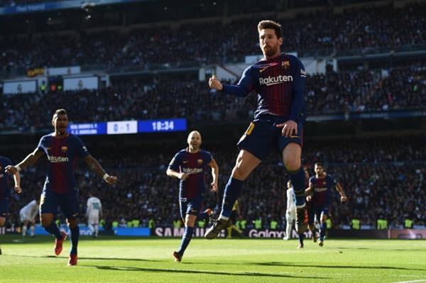 Messi một lần nữa tỏa sáng ở El Clasico. Ảnh: Reuters.