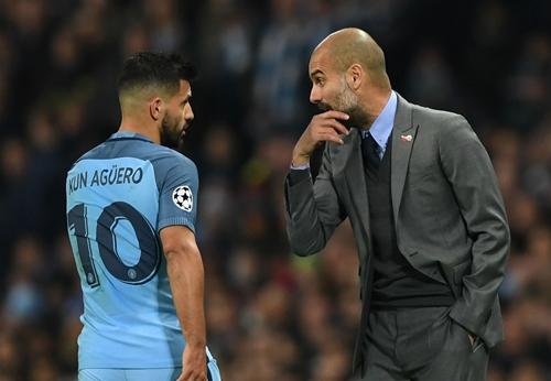 Mâu thuẫn giữa Aguero và Guardiola có nguy cơ bùng phát. Ảnh: PA.