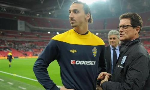 Capello từng có hai năm huấn luyện Ibrahimovic. Ảnh: AFP.