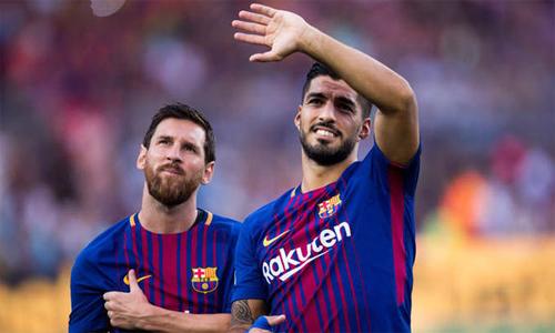 Messi và Suarez được nghỉ dài hơn các đồng đội. Ảnh: AFP.