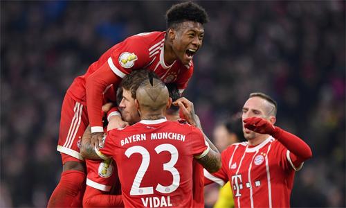 Bayern đang dẫn đầu Bundesliga với cách biệt 11 điểm so với đội thứ nhì. Ảnh: Reuters.