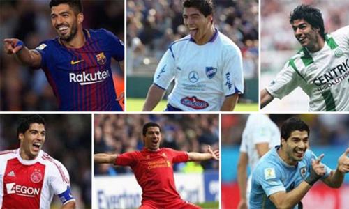 Suarez và những đội bóng đã và đang khoác áo.