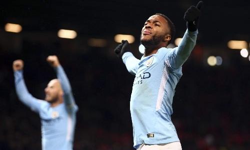 Sterling đang có một mùa giải tuyệt vời cùng Man City. Ảnh: AP.