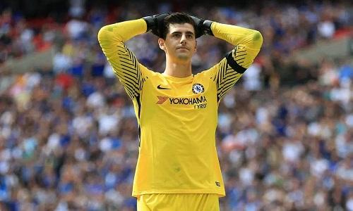 Courtois muốn trở lại Madrid. Ảnh: AP.