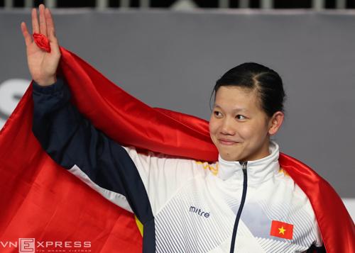 Ánh Viên, cô gái vàng của bơi lội Việt Nam.