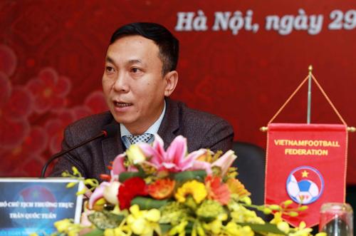 Phó Chủ tịch VFF Trần Quốc Tuấn cho biết đầu tư cho bóng đá trẻ là vấn đề cốt lõi.