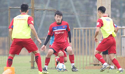Xuân Trường được HLV Park Hang-seo tín nhiệm giao băng đội trưởng U23 Việt Nam. Ảnh: Lâm Thỏa