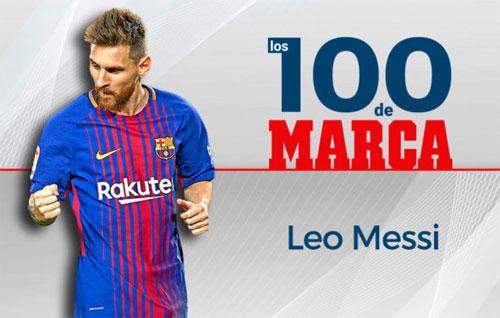 Messi dẫn đầu danh sách 100 hay nhất năm 2017 do độc giả Marca bầu chọn.