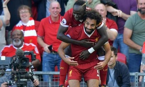 Bộ đôi tiền đạo của Liverpool. Ảnh: Reuters.