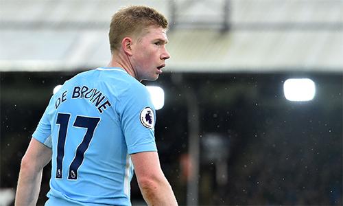 De Bruyne đã có chín đường kiến tạo tại Ngoại hạng Anh mùa này.