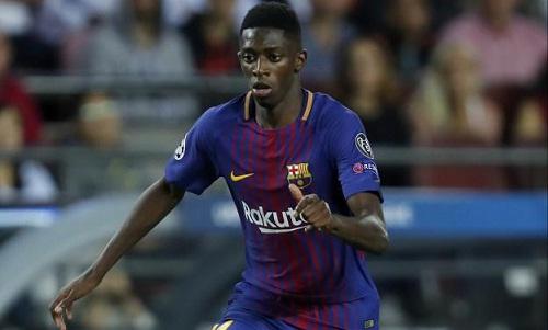 Dembele chuẩn bị tái xuất trong màu áo Barca. Ảnh: Presse Sport.