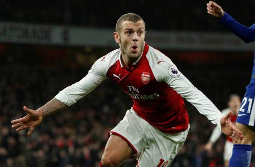 Wilshere đang dần đặt được nhiều dấu ấn hơn, từ ngày được đá chính trở lại ở Arsenal. Ảnh: Reuters.