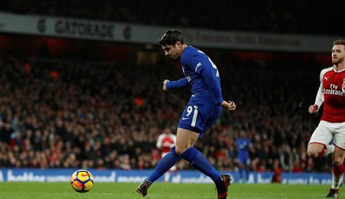 Morata đánh mất duyên ghi bàn. Ảnh: Reuters