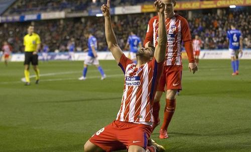 Costa hạnh phúc với bàn thắng đầu tiên cho Atletico sau 1.344 ngày. Ảnh: DIARIO AS.