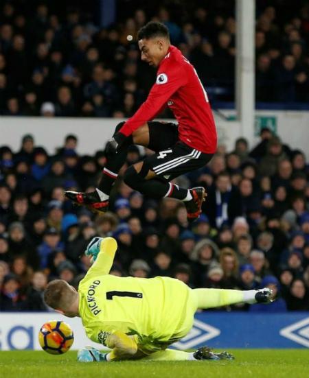 Lingard đang tạo bước nhảy trình độ ở Man Utd. Ảnh: Reuters.