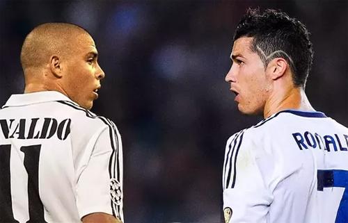 Người ngoài hành tinh Ronaldo (trái)chỉ có hai Quả Bóng Vàng và không giành được Champions League trong sự nghiệp.