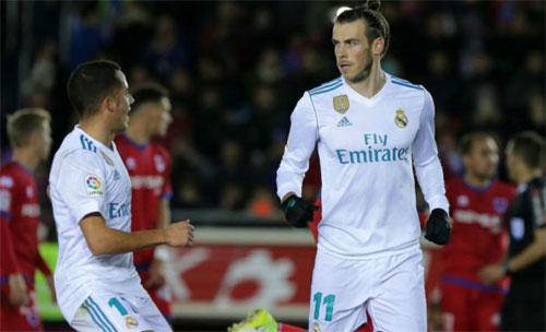 Bale mở tỷ số cho Real sau khi vào sân đá chính. Ảnh: Marca