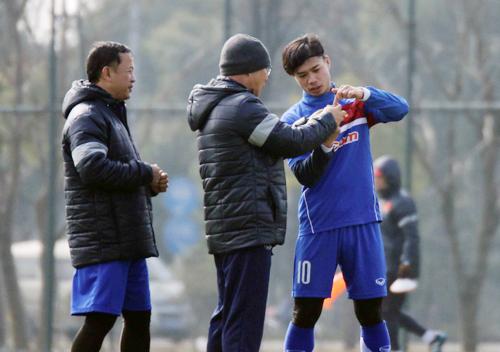 HLV Park Hang-seo tin U23 Việt Nam có điểm tại vòng chung kết U23 châu Á. Ảnh: Đoàn Huynh