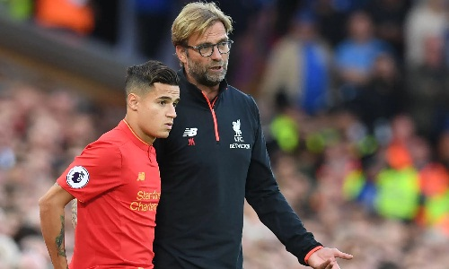 Coutinho là trò cưng của Klopp khi khoác áo Liverpool. Ảnh: Reuters.