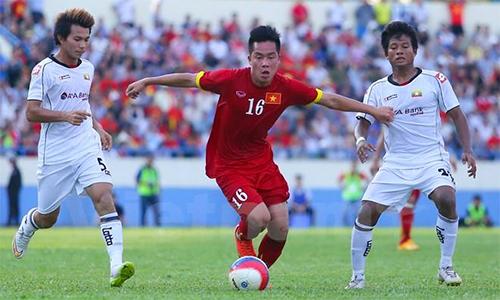 Thanh Bình (số 16) lỡ cơ hội dự giải châu Á cùng U23 Việt Nam. Ảnh: Lâm Thỏa.
